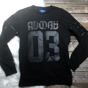 ADIDAS 03 Winter Crewshirt Mens Small Black